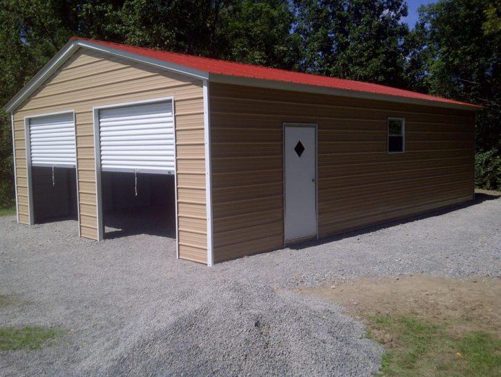 Vertical Enclosed garage