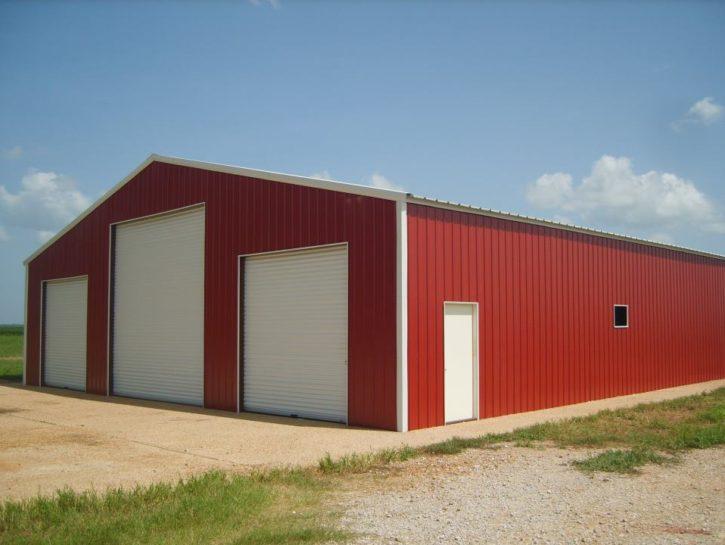 Barn Red Clear Span Garage